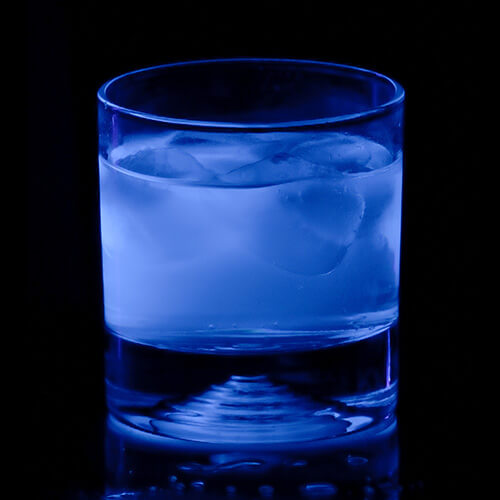 glass of water using ultraviolet water treatment