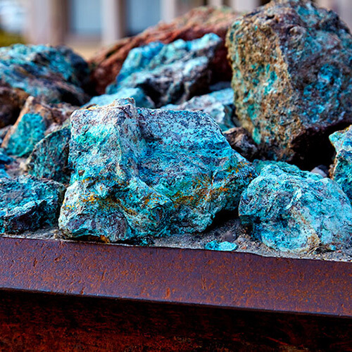 copper, an element that can be found in your water & needs to be filtered