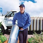 culligan water expert delivering PE tank