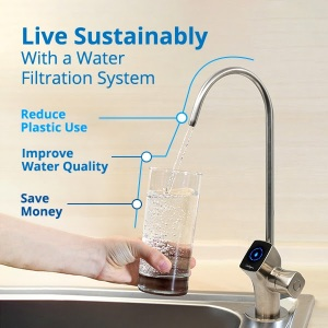 live sustainably with water filtration