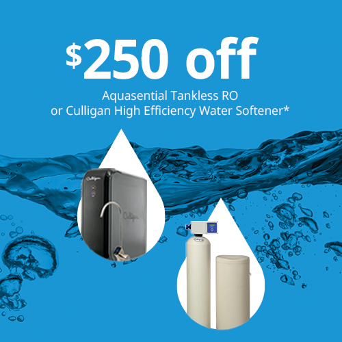 $250 off RO or water softener