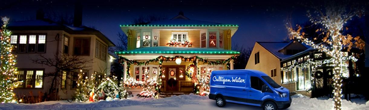 Culligan van in front of home